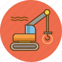 architecture, construction, crane, property, repair, tools, tractor icon