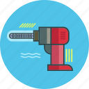 construction tool, drill, machine icon