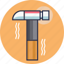 construction tool, hammer, weapon icon