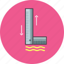 building, construction, equipment, office, property, ruler, tool icon