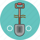 construction, equipment, repair, service, shovel, tool, work icon