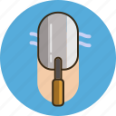 building, construction, equipment, repair, tool, trowel, work icon