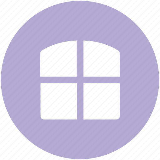 apartment, apartment window, home window, house window, window icon