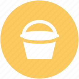 barrel, bucket, can, housework equipment, pail, pot, vessel icon
