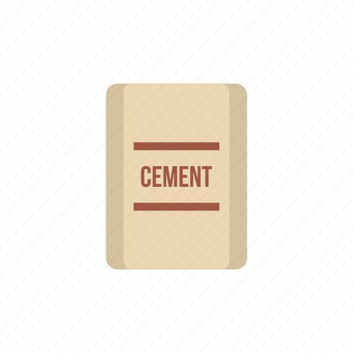 cement, concrete, construction, industry, material, pouch, work icon