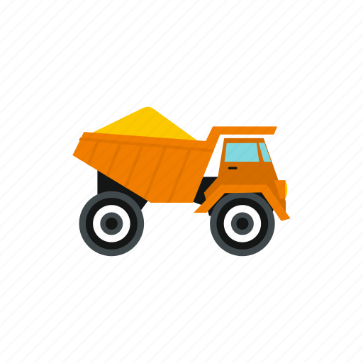 equipment, heavy, machinery, sand, transportation, truck, vehicle icon