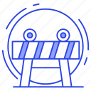 barricade, barrier, construction fence, fence, restricted barrier icon