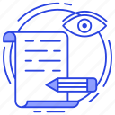 agreement, agreement monitoring, contract, deed, document review icon