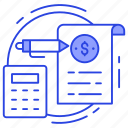 accounting, calculation, computation, invoice, tax calculation icon