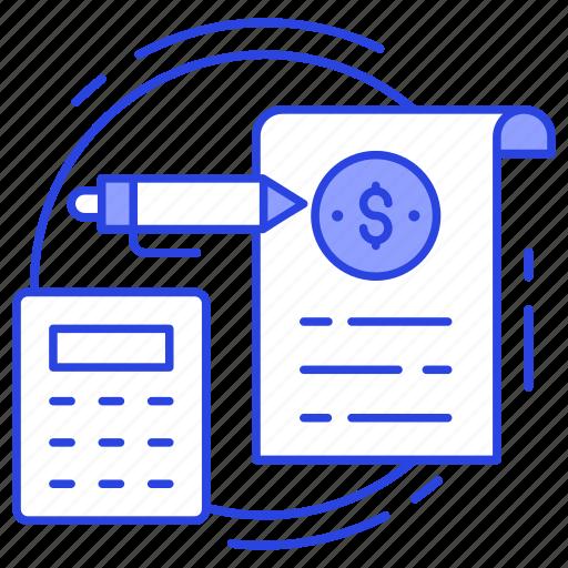 accounting, calculation, computation, invoice, tax calculation icon