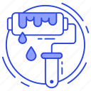 home repair, paint, paint roller, paintbrush, painting icon