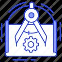 blueprint, building blueprint, construction plan, ui, ux icon
