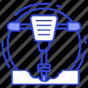 air hammer, drill, jackhammer, pneumatic hammer, sledge hammer icon