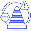 alert signs, road sign, traffic cone, under construction, warning sign icon