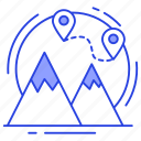 gps, hill station, map location, topographical map, topography icon