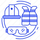lifejacket, personal protection, protective equipments, safety equipments, safety vest icon