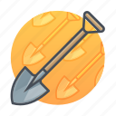 construction, farm, garden, gardening, shovel, tool, tools icon
