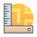 l square, measure, ruler, tool icon