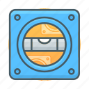 flat, horizon, horizontal, level, line, measure icon