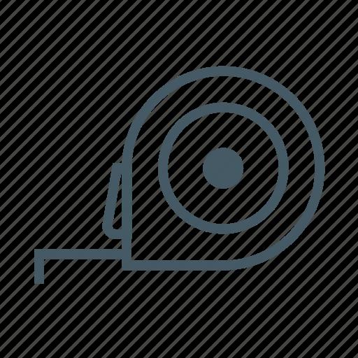 measure, meter, ruler, tape, tape measure, tapeline, tool icon