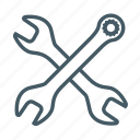 configuration, setting, spanner, tool, wrench icon