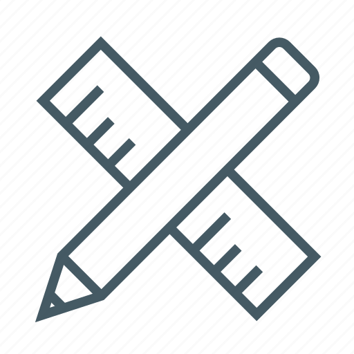 design, draw, edit, editing, measure, pencil, ruler icon