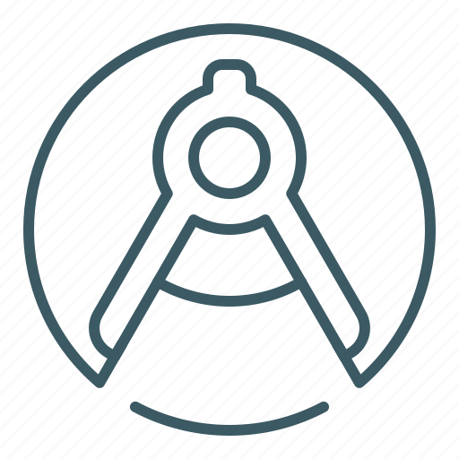 architecture, compasses, draw, tool icon