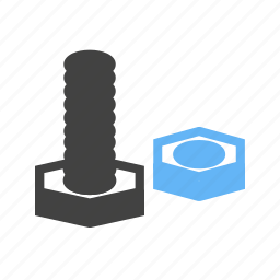 bolt, construction, equipment, hardware, metal, nut, tools icon