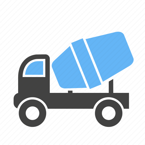 Building, cement mixer, concrete, construction, machine, transport, truck icon - Download on Iconfinder