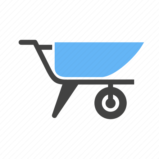 carrier, cart, cement, construction, container, holder, trolley icon