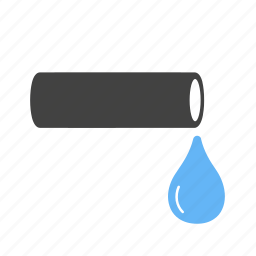 construction, droplet, duct, pipe, piping, valve, water icon