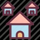 building, estate, house, housing icon