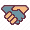 business, deal, hand, handshake, property icon