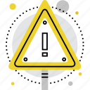 alert, area, attention, danger, sign, signpost, warning icon