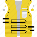 caution, foresight, precaution, protective, safety, swimming, vest icon