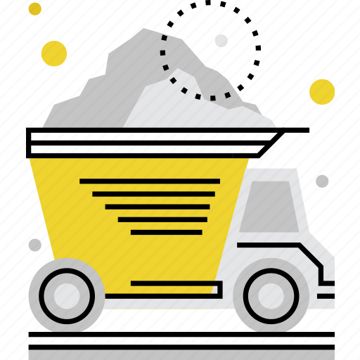 car, dump, material, transportation, truck, vehicle, waste icon