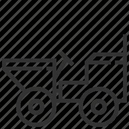 auto, car, delivery, dumper, transport, truck icon