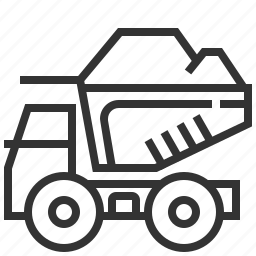 car, delivery, dump, transportation, truck icon