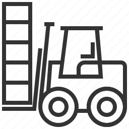 car, construction, delivery, forklift, transportation icon