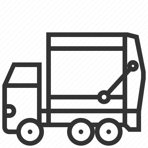 auto, bin, car, garbage, transportation, truck icon