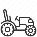 car, mini, tractor, transport icon