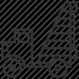 automobile, car, construction, piling, service, transportation icon