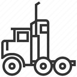 car, logistics, semi, shipping, truck icon