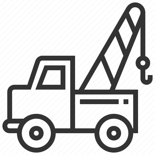 car, construction, delivery, towing, transportation, truck icon