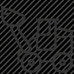 automobile, car, loader, transportation, wheel icon