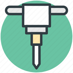auger, drain, drilling, gimlet machine, hand tool icon