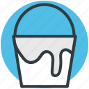 bucket, color bucket, pail, paint, paint bucket icon