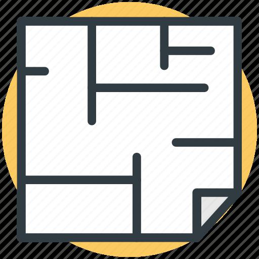 architectural, architecture, graphic design, house plan, sketch icon