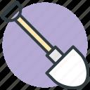 hand tool, construction tool, shovel, spade, gardening tool