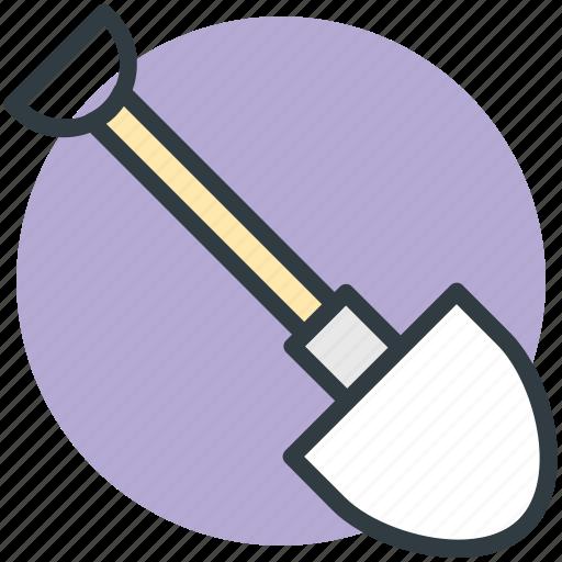 construction tool, gardening tool, hand tool, shovel, spade icon